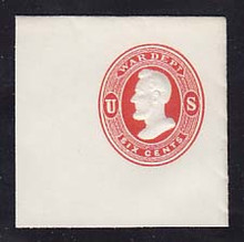 UO37 6c Vermillion on White, Mint Full Corner, 50 x 50