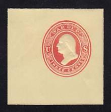 UO52 3c Red on Amber, MInt Full Corner, 50 x 50