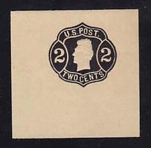 W57 2c Black on Light Manila, die 4, Mint Full Corner, 50 x 50