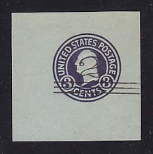 U451b 2c on 3c Dark Violet on Blue, die 5, Mint Cut Square