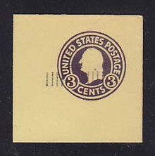 U469 2c on 3c Dark Violet on Amber, die 1, Mint Full Corner, 50 x 50