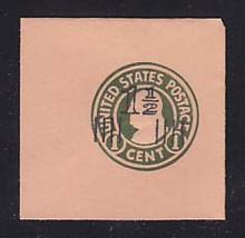 U517a 1 1/2c on 1c Green on Oriental Buff, die 4, Mint Full Corner, 50 x 50