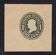U404a 1c Green on Manila, die 3, Mint Full Corner, 50 x 50