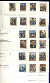 UX200-19 UPSS# S213-32 20c Civil War Mint Postal Cards, Opened set of 20 Postal Cards