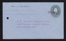 U314, UPSS # 984-12 Entire, Specimen Form 42