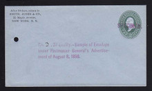 U314, UPSS # 985-12 Entire, Specimen Form 42