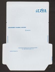 UC51, UPSS #ALS-17a 22c USA, UNFOLDED, Reverse Die Cut