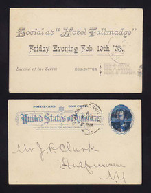 "UX11 Mechanicsville, New York 1893 ""Social at Hotel Fallmadge"""