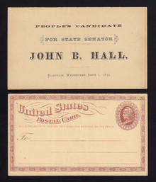 UX3 Unused, People's Candidate for State Senator, John B. Hall 1875