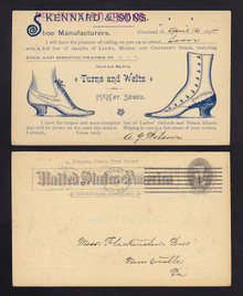 UX10 Cleveland, Ohio SALESMEN Calling Card Ladies Shoes Turns & Welts