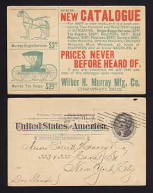 UX12 Cincinnati, Ohio Wilber Murray Mfg. Co., Harness/Buggy