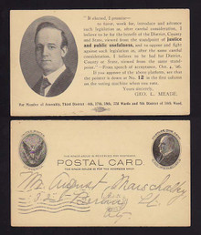 UX18 Rochester, New York Election Card 3rd District Geo. L. Meade
