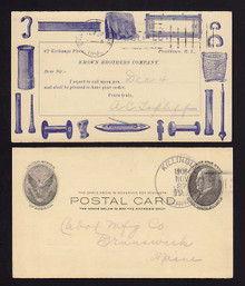 UX18 Providence, Rhode Island SALESMEN'S Calling Card, Brown Brothers Co.