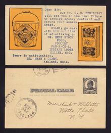 UX19 Ashland, Ohio SALESMEN'S Calling Card, Dr. Hess Stock Food