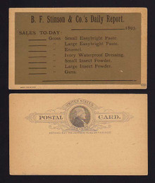 UX9a Gold COATED Unused for B.F. Stinson & Co. Daily Report