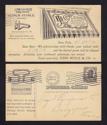 UX20 New York, New York John Boyle & Co, Oblong Clinch Staple