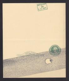 UY15, UPSS #MR25k Mint UNFOLDED, R w/Diagonal Surhcrage Position #1 from sheet of 20