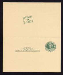 UY15, UPSS #MR25k Mint UNFOLDED, R w/Diagonal Surhcrage Position #6 from sheet of 20