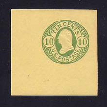 U41 10c Green on Buff, Mint Cut Square, 50 x 50