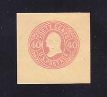 U73 40c Rose on Buff, Mint Cut Square, 41 x 40
