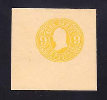 U67a 9c Orange Yellow on Buff, Mint Full Corner, 50 x 50