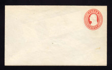 U9 UPSS # 15/T28 3c Red on White, die 5, Mint Entire