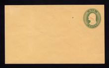 U14 UPSS # 22 6c Greenon Buff, Mint Entire, Spot to left of stamp