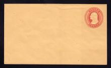 U10 UPSS # 18/T6 3c Red on Buff, die 5, Mint Entire, Light Toning