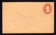 U10 UPSS # 18/T10 3c Red on Buff, die 5, Mint Entire, Toning on Back, Front clean