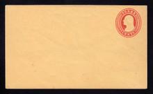 U10 UPSS # 18/T12 3c Red on Buff, die 5, Mint Entire