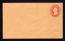 U10 UPSS # 18/T21 3c Red on Buff, die 5, Mint Entire