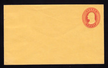 U10 UPSS # 18/T27 3c Red on Buff, die 5, Mint Entire, 2 Paper Hinges on back, front clean
