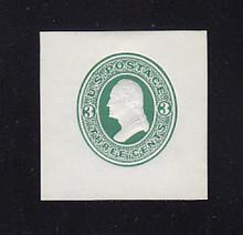 U82 3c Green on White, Mint Cut Square