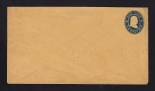 U19 1c Star Die Envelope, FORGERY, Very Unusual