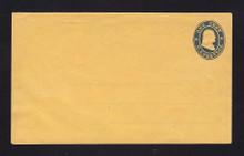 U21A UPSS # 33 1c Blue on Orange (wove paper), die 1, Mint Entire