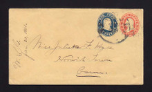 U29 UPSS # 59 3c Red & 1c Blue on Buff, USED Entire , Docketed Jan 30, 1861, Early USE