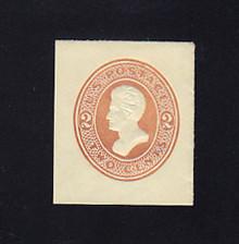 U133 2c Brown on Amber, die 3, Mint Cut Square, 33 x 39