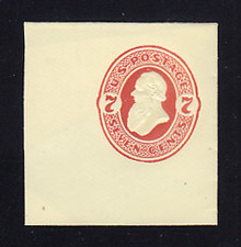 U186 7c Vermillion on Amber, Mint Full Corner, 48 x 50