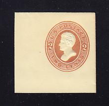 U129 2c Brown on Amber, die 2, Mint Full Corner, 46 x 46