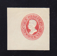 U153 2c Vermillion on White, die 7, Mint Cut Square, 46 x 46