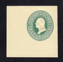 U160 3c Green on Amber, die 1, Mint Full Corner, 50 x 50