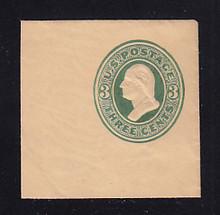 U165 3c Green on Cream, die 2, Mint Full Corner, 50 x 50
