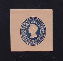 U180 5c Blue on Fawn, die 2, Mint Cut Square, 41 x 42