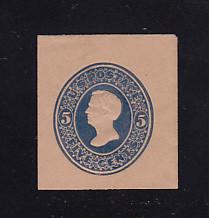 U180 5c Blue on Fawn, die 2, Mint Cut Square, 35 x 39