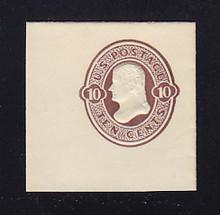 U187 10c Brown on White, die 1, Mint Full Corner, 48 x 48