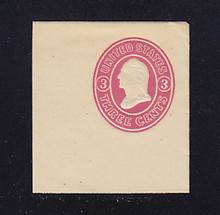 U34 3c Pink on White, Mint Full Corner, 44 x 47