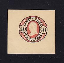 U45 40c Black & Red on Buff, Mint Full Corner, 46 x 43