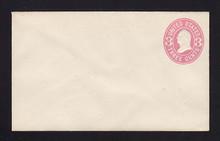 U58 UPSS # 123 3c Pink on White, Mint Entire
