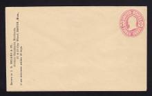 U59 UPSS # 128 3c Pink on White, Mint Entire, CC