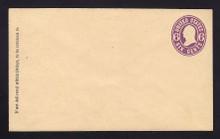 U65 UPSS # 133 6c Purple on Buff, Mint Entire, GR